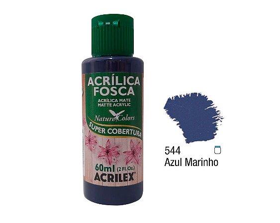 Acrilex - Tinta Acrílica Fosca 60ml - Azul Marinho (544)