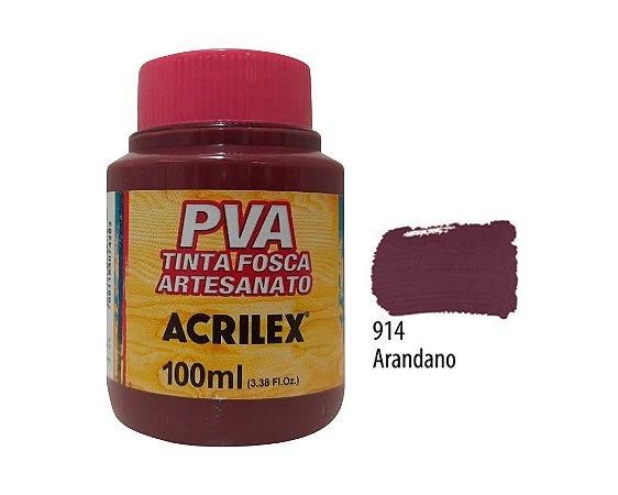 Acrilex - Tinta Fosca PVA p/ Artesanato 100ml - Arandano (914)