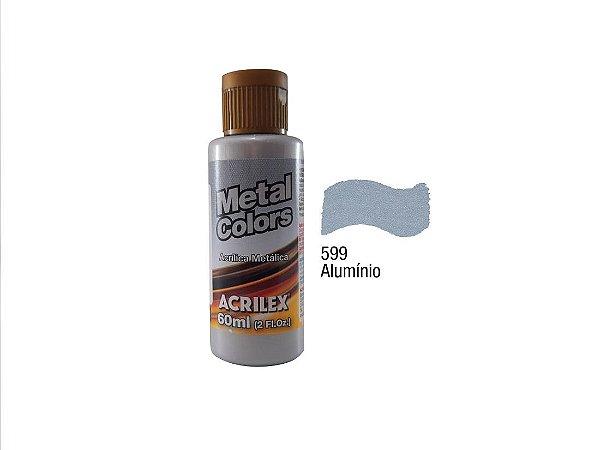 Acrilex - Tinta Metal Colors 60ml - Alumínio (599)