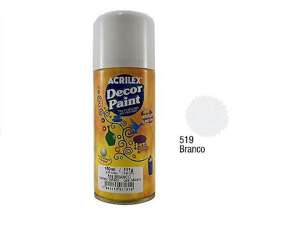Acrilex -Tinta em Spray 150ml - Decor Paint - Branco (519)