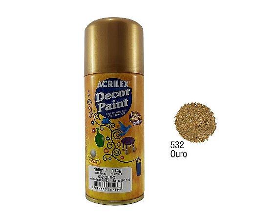 Acrilex -Tinta em Spray 150ml - Decor Paint - Ouro (532)