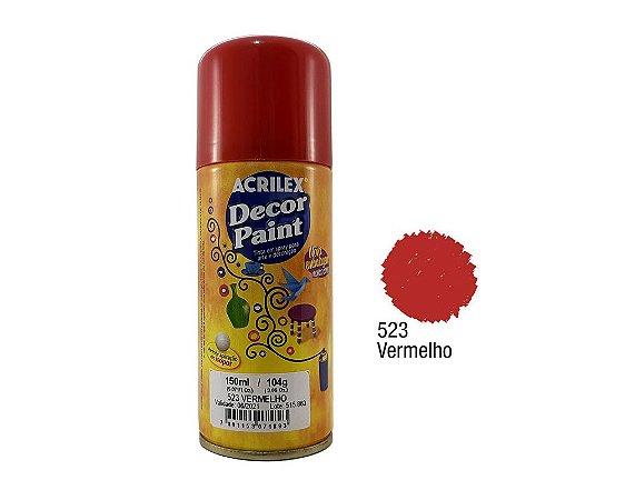 Acrilex -Tinta em Spray 150ml - Decor Paint - Vermelho (523)