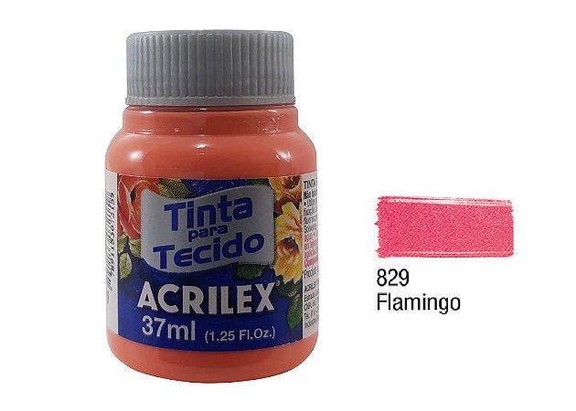 Acrilex - Tinta p/ Tecido Fosca 37ml - Flamingo (829)