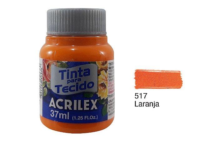 Acrilex - Tinta p/ Tecido Fosca 37ml - Laranja (517)
