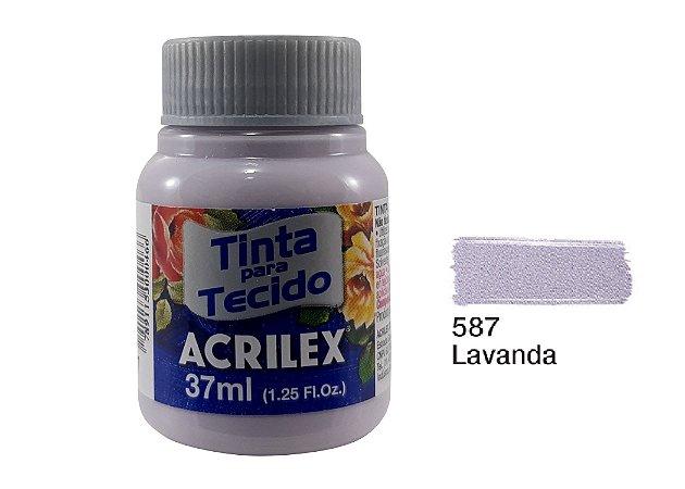 Acrilex - Tinta p/ Tecido Fosca 37ml - Lavanda (587)