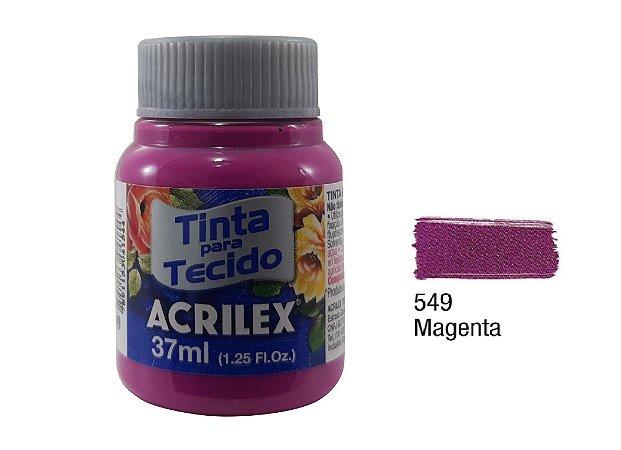 Acrilex - Tinta p/ Tecido Fosca 37ml - Magenta (549)