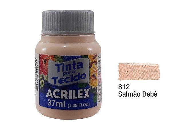 Acrilex - Tinta p/ Tecido Fosca 37ml - Salmão Bebê (812)