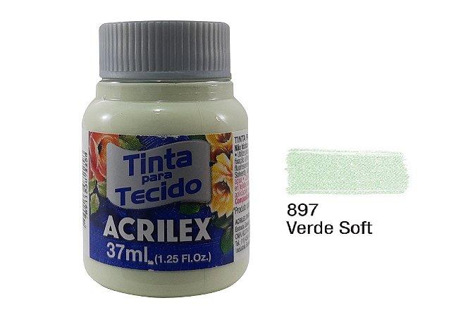 Acrilex - Tinta p/ Tecido Fosca 37ml - Verde Soft (897)