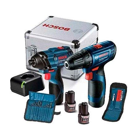 Bosch - Combo Furadeira Parafusadeira GSR 120 GDR 120 Alu Case