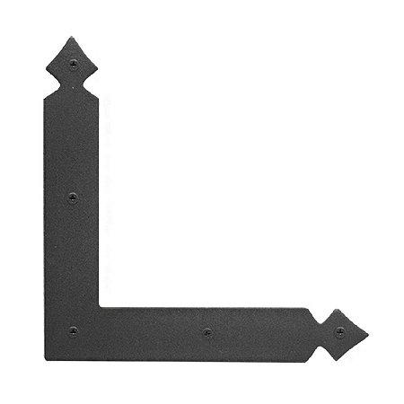 Minutex -  Placa Angular Ponta de Lança Reforçada 22 x 19,5cm - Aço Forjado