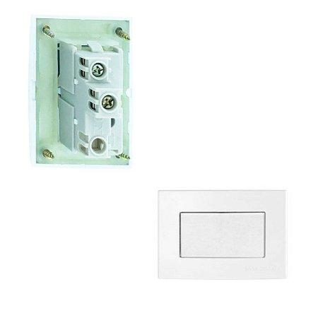 MarGirius - Conjunto Interruptor Paralelo Seek - 10A 250V - Branco - (PA015793)