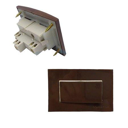 MarGirius - Conjunto Interruptor Paralelo Sleek - 10A 250V - Marrom (PA017806)