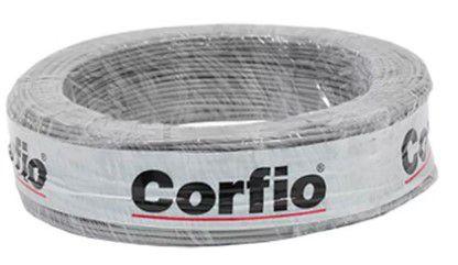 Corfio Granel - Rolo Cabo Flexível - 750V - 2,5mm - 1MT - Cinza - Antichama - BWF