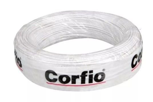 Corfio Granel - Rolo Cordão Paralelo - 300V - 2x1,5mm - 1MT - Branco