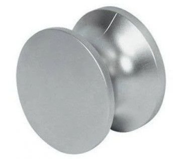 Hafele - Botão Push-Lock D23 - 13-19mm - Plastificado - Niquelado - Fosco