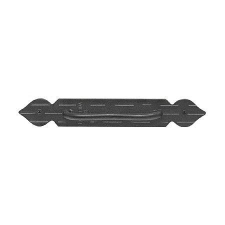 Minutex - Puxador Listrado Fixo - Aço Forjado - Preto