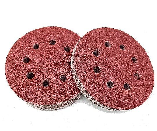 MTX - Disco De Lixa Com Furo e Velcro Grão 120 - 5 Pçs de 125mm - 738069