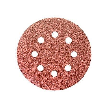 MTX -Disco De Lixa Com Furo e Velcro Grão 40 - 5 Pçs de 125mm - 738009