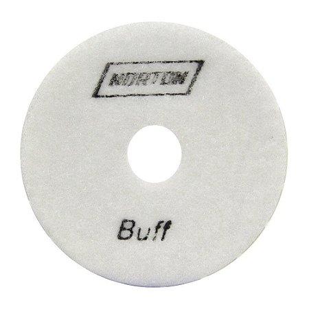 Norton - Disco Diamantado Brilho D'Água 100mm 6500 BUFF BRANCO - 10 UN