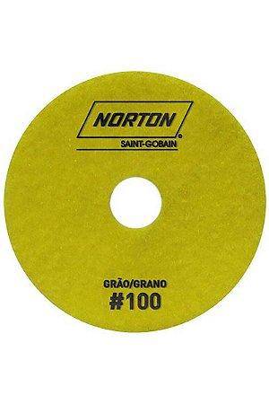 Norton - Disco Diamantado Brilho D'Água 100MM GRÃO 100 - 10 UN