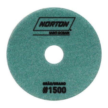 Norton - Disco Diamantado Brilho D'Água 100MM GRÃO 1500 - 10 UN