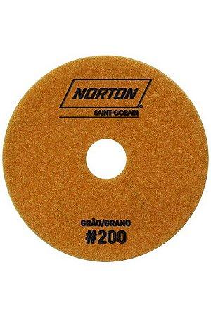 Norton - Disco Diamantado Brilho D'Água 100MM GRÃO 200 - 10 UN