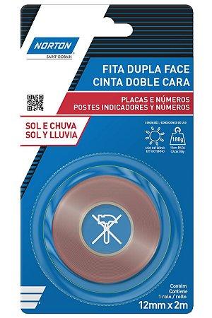 Norton - Caixa de Fita Dupla Face 12mm x 2m - 12 unidades
