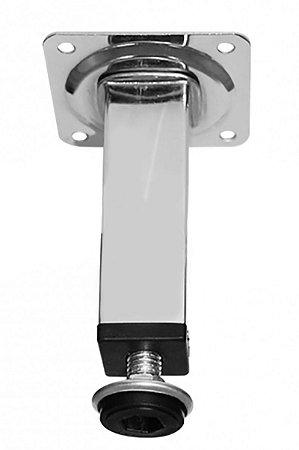 Criativa Máxima - Pé de Aço Quadrado Cromado 200mm 135-25 CP