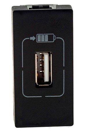 Legrand - PIAL Plus+ - Carregador USB - 1 Saída - 1100Ma - Preto - 615088PT