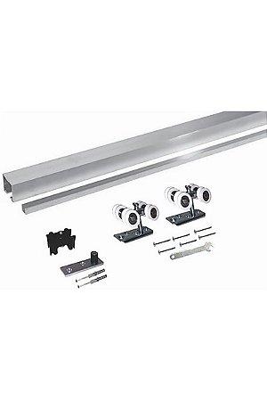 Perfil - Kit Concavo 2m com Roldana 4 Rodas - MKC2-4R