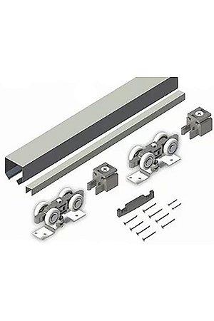 Perfil - Kit Convexo 2m 36X36mm Com Roldana 4 Rodas - MKV24R