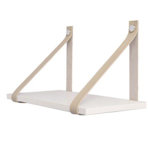 DiCarlo - Prateleira De Tiras Couro - Branco / Nude - 40 x 20cm - 1171FPA01.0172