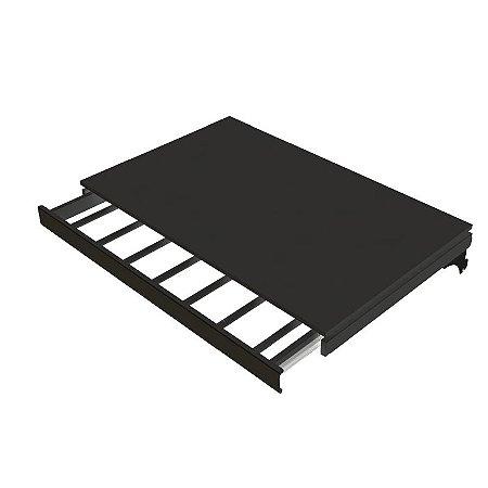 DiCarlo - Calceiro Retrátil c/ Prateleira Modular - Preto - 1208FPA06.0001