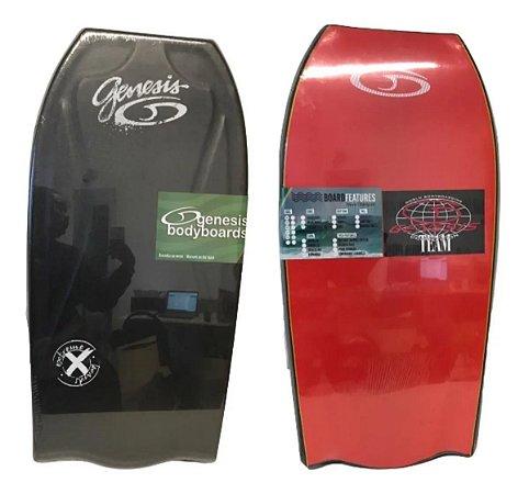 Prancha Bodyboard Genesis Modelo Extreme Vermelho com Preto