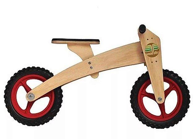 Bicicleta Infantil De Madeira Bike De Equilíbrio 2 Em 1