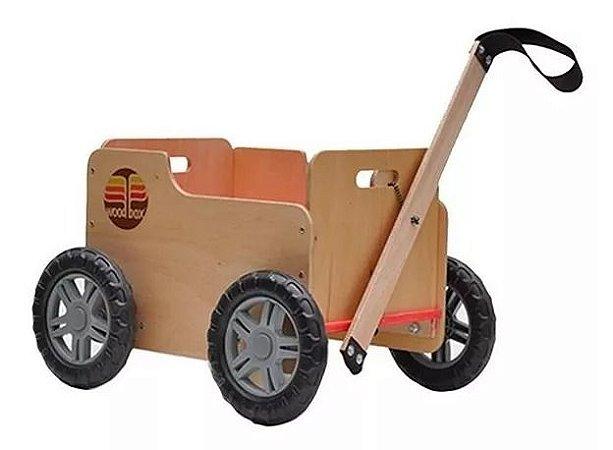 Woodbox Carrinho Infantil Multiuso De Madeira