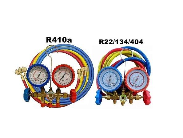 Kit Manifold R22/134/404 + R410a Ar Condicionado Inverter