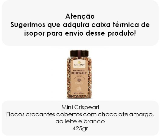 Mini Crispearls - Pérolas crocantes cobertas de chocolate belga ao leite, branco e amargo