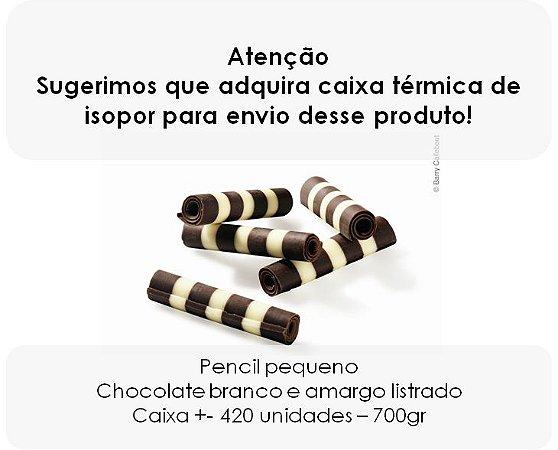 Pencil Callebaut - Rolinho de chocolate belga listrado 4cm