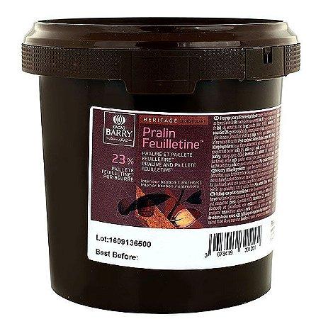 Pralin Feuilletine - Recheio pronto de pasta de avelãs, amêndoas e massa folhada