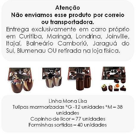Linha Mona Lisa - copinhos de chocolate meio amargo