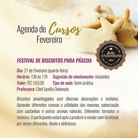 Curso Presencial - Festival de Biscoitos para Páscoa -  Chef Jucélia Delamuta - 21.02.2018