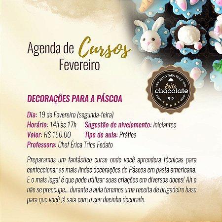 Curso Presencial - Decorações para Páscoa - Chef Érica Trica 19.02.2018