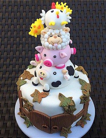 Curso Presencial - Cake Design: Torre fazendinha - Chef Bruna Marinoni 28.08.2018