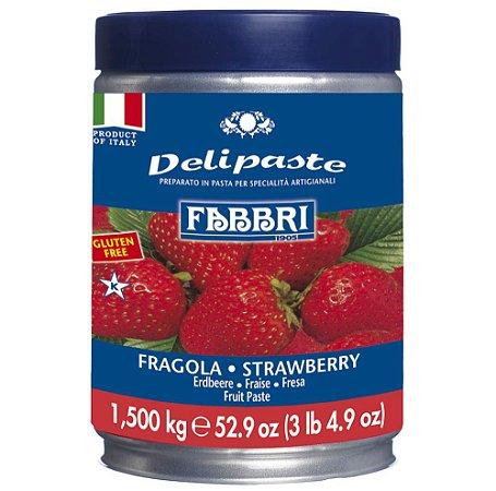 Pasta saborizante de morango Fabbri 1,5kg