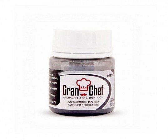 Corante Hidro-Lipossolúvel Gran Chef - Preto