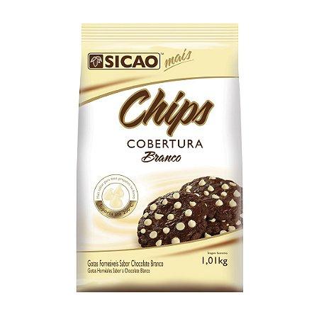 Chips Forneável Cobertura Branco Sicao - 1,01kg