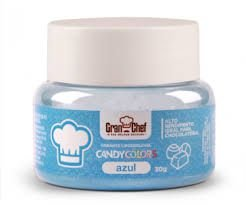 Corante Candy Colors Lipossolúvel Gran Chef - Azul 30g