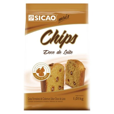 Chips Forneável Cobertura Doce de leite Sicao - 1,01kg