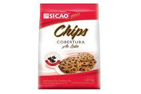 Chips Forneável Cobertura Ao leite Sicao - 1,01kg